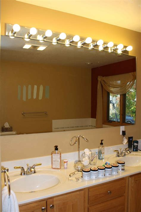 Diy Large Mirror With Lights