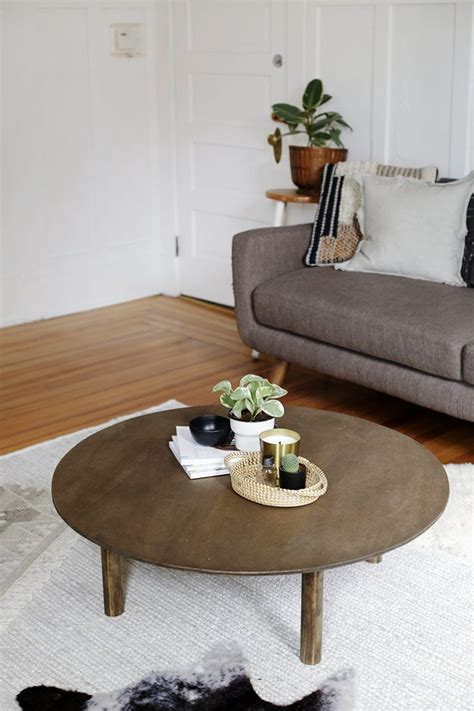 Diy Large Round End Table