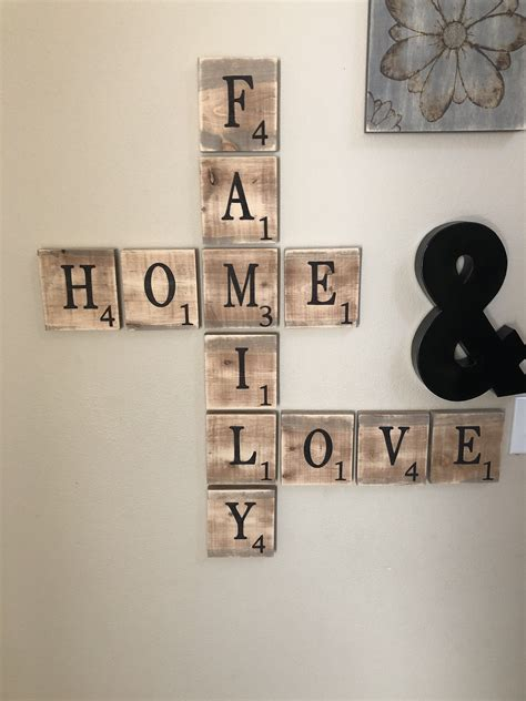 Diy Large Scrabble Letters For Walls