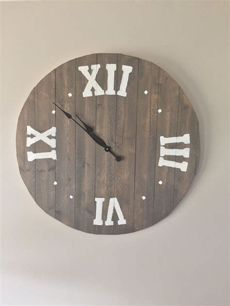 Diy Large Wall Clock Tutorial