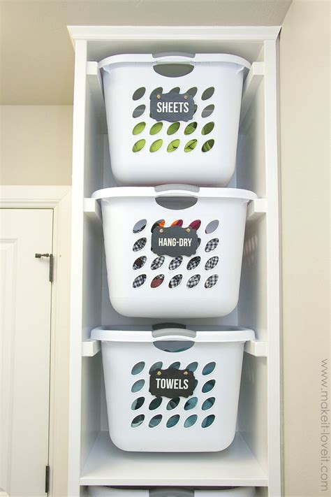 Diy Laundry Basket Storage