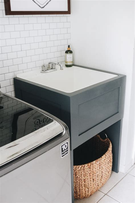 Diy Laundry Cabinet With Sink