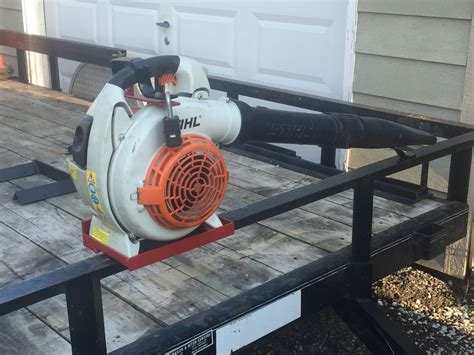 Diy Leaf Blower Rack For Trailer