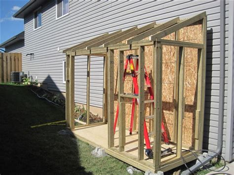 Diy Lean To Shed Attached To Garage