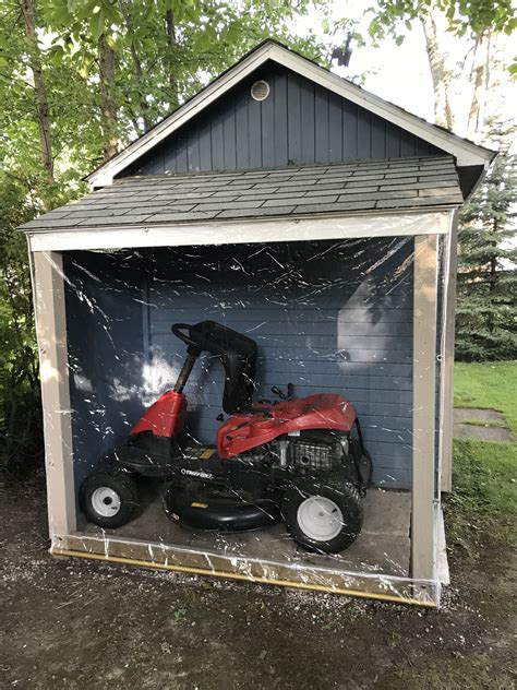 Diy Lean To Shed For Riding Lawn Mower