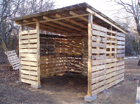 Diy Lean To Shed From Pallets