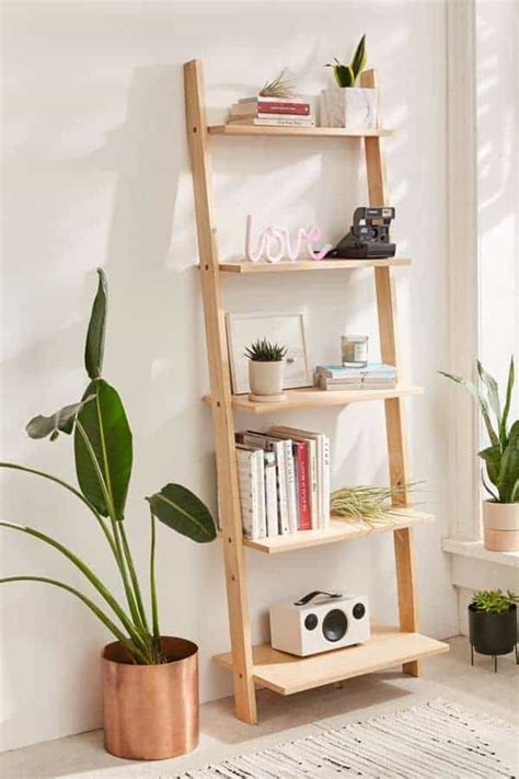 Diy Leaning Bookcase Shelves