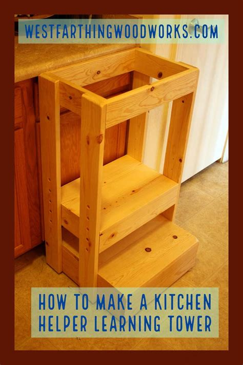 Diy Learning Tower Kitchen Helper
