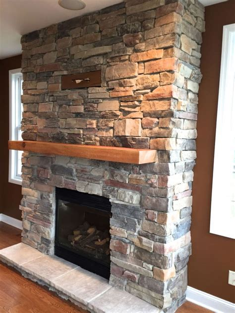 Diy Ledge Stone Fireplaces