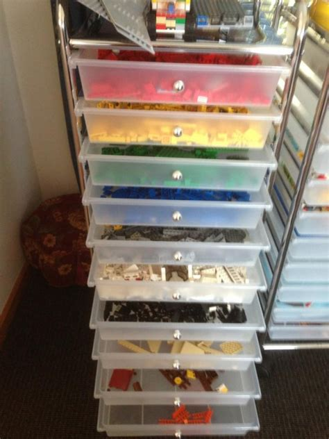 Diy Lego Table Plastic Drawer Carts With Wheels