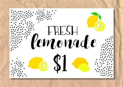 Diy Lemonade Sale Sign