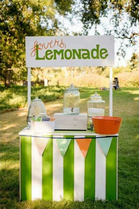 Diy Lemonade Stand Wedding Cakes