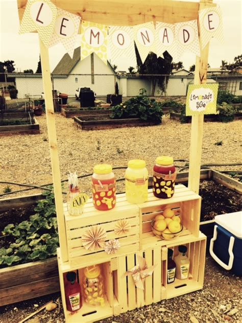 Diy Lemonade Stand With Crates For Puppies