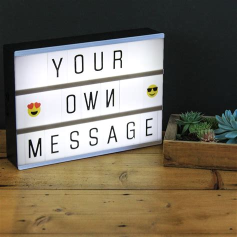 Diy Letter Light Box