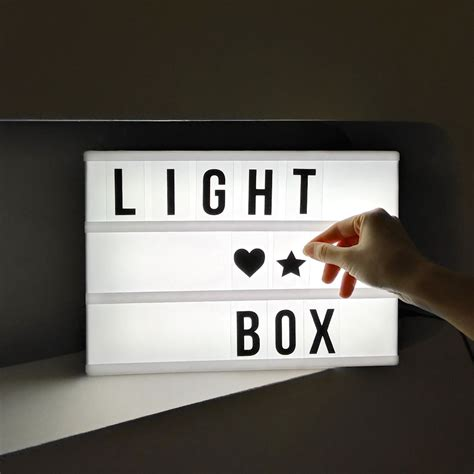 Diy Light Box Letters And Symbols