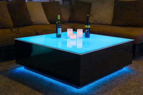 Diy Lighted Coffee Table