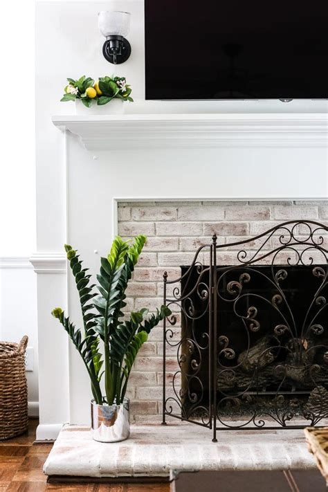 Diy Lime Wash Brick Fireplace