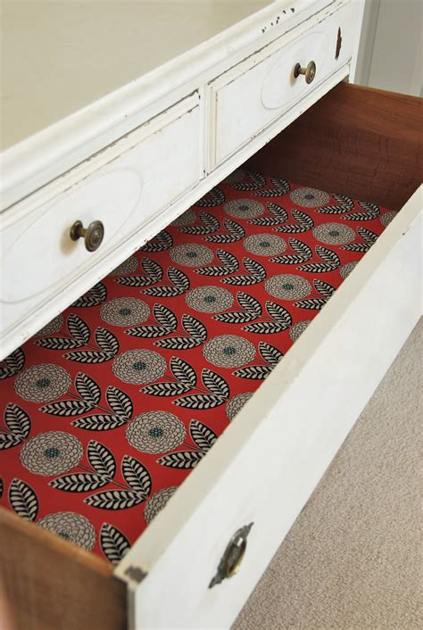 Diy Lining Dresser Drawers
