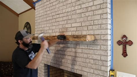 Diy Live Edge Mantel Installation