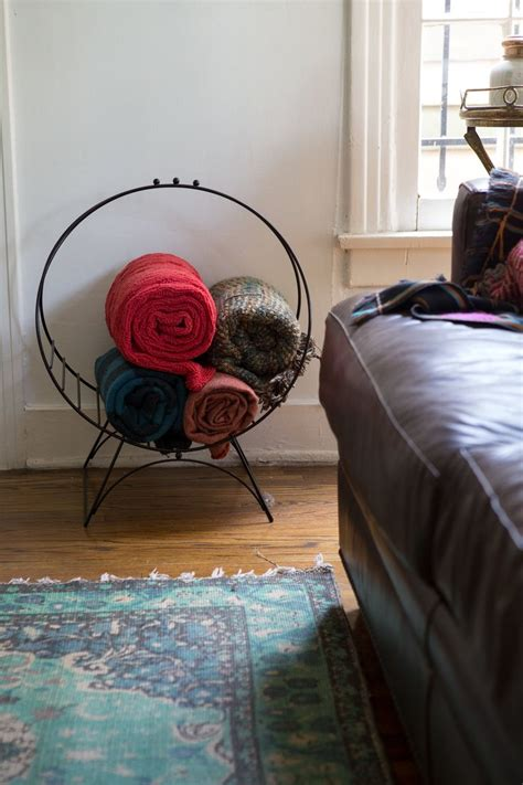 Diy Living Room Blanket Storage