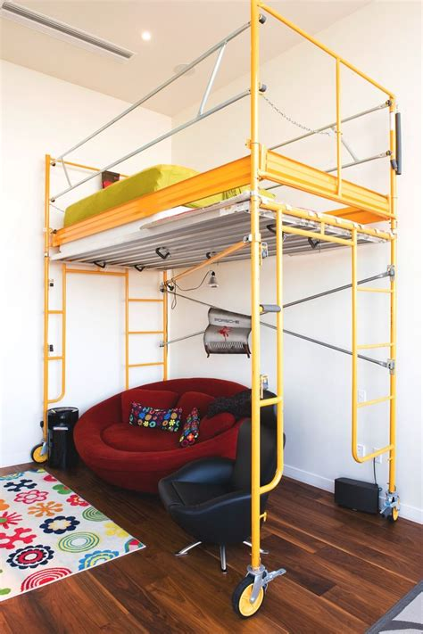 Diy Loft Bed From Scaffolding Planks