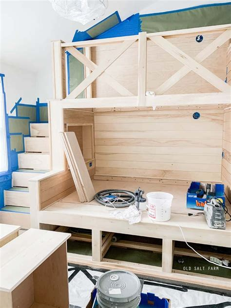 Diy Loft Bed Stairs Ladder Paint
