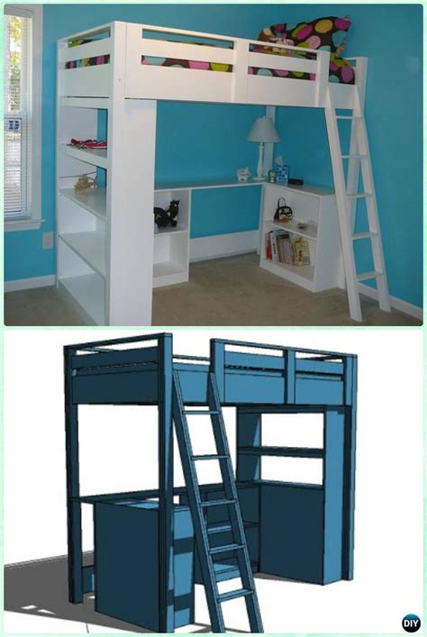 Diy Loft Bed With Desk Instructions