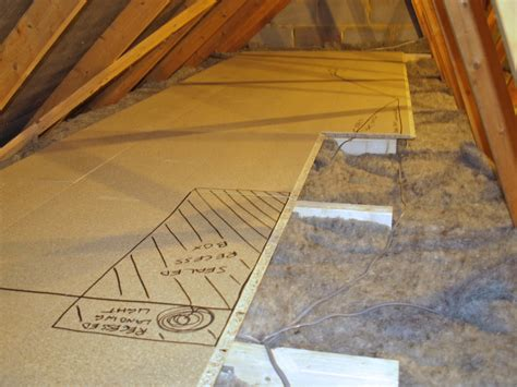 Diy Loft Boards Over Insulation