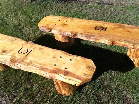 Diy Log Bench With Back
