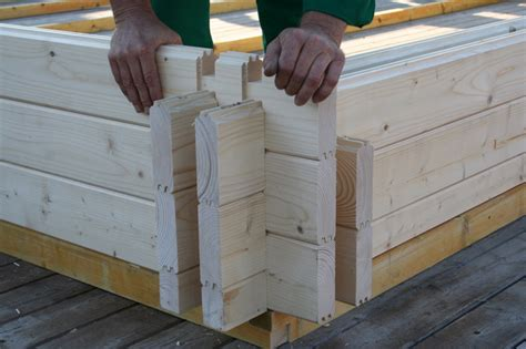 Diy Log Cabin Interlocking Logs
