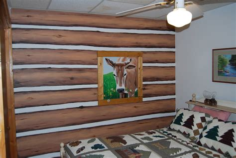 Diy Log Cabin Look Interior Wall