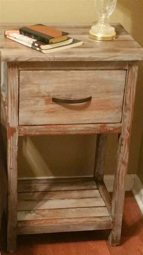 Diy Log Furniture Night Stand
