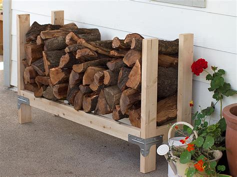 Diy Log Holder For Firewood