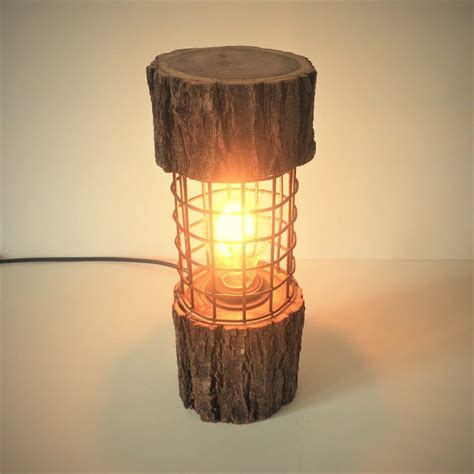 Diy Log Lamps