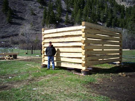 Diy Log Shed How To