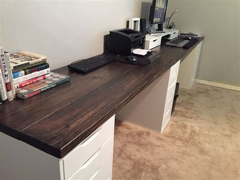 Diy Long Wood Desk