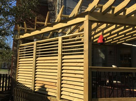 Diy Louvered Fence