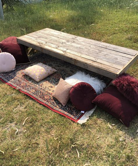 Diy Low Outdoor Table For A Picnic