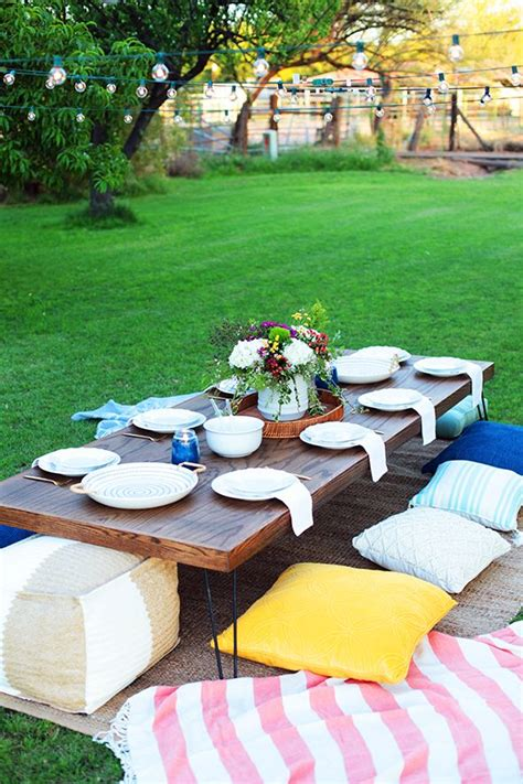 Diy Low Table For Outdoor Party