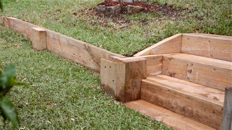 Diy Low Wood Retaining Wall