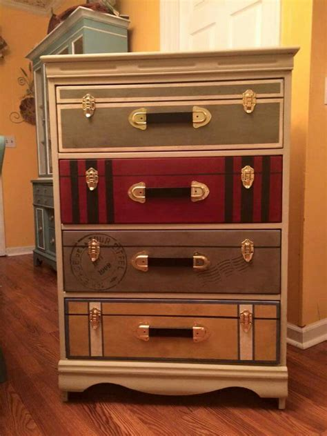 Diy Luggage Dresser