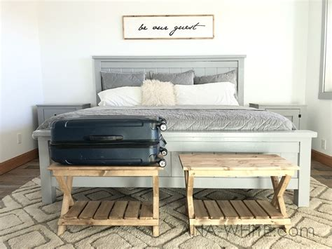Diy Luggage Rack For Guest Room
