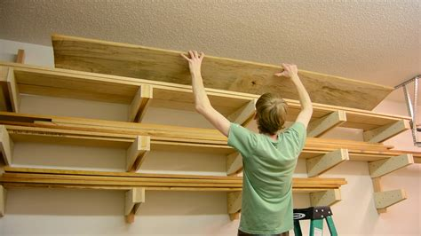 Diy Lumber Rack For Walls