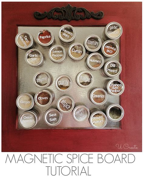 Diy Magnetic Spice Board