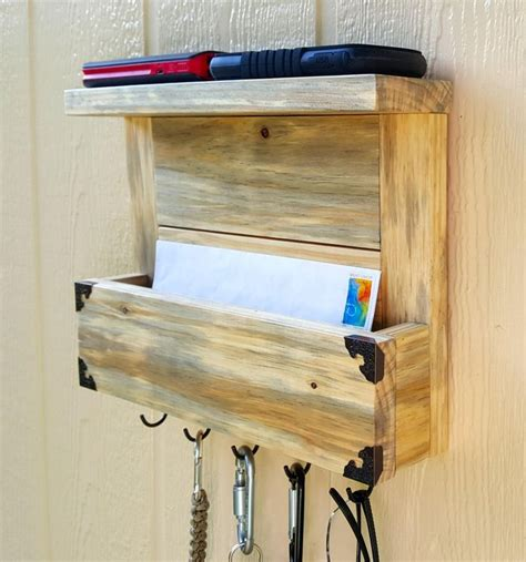 Diy Mail Holder With Shelves