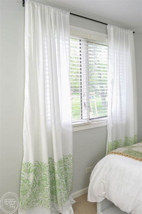 Diy Making Curtains From Sheets