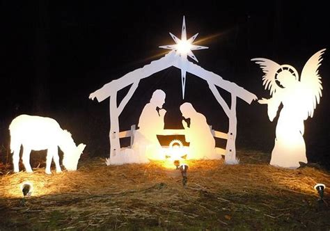 Diy Manger Scene For Yard