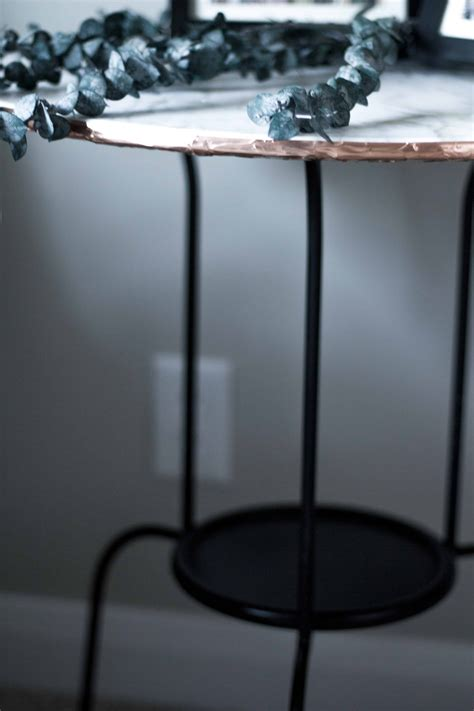 Diy Marble Top Side Table