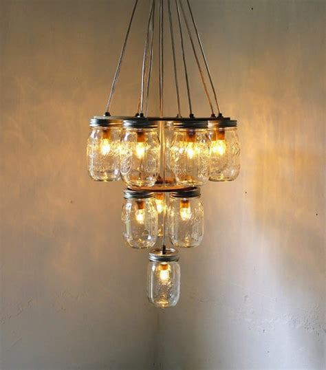 Diy Mason Jar Chandelier For Wedding