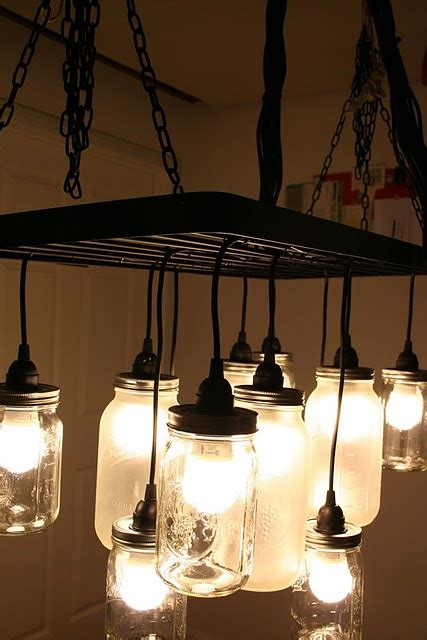 Diy Mason Jar Chandelier Ikea